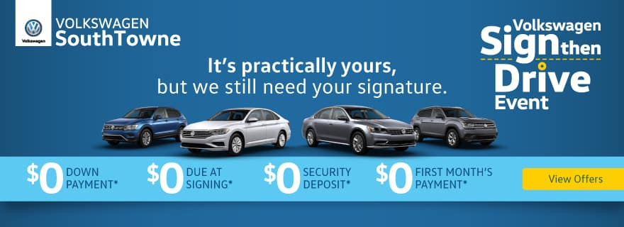 Sign Then Drive at Volkswagen SouthTowne