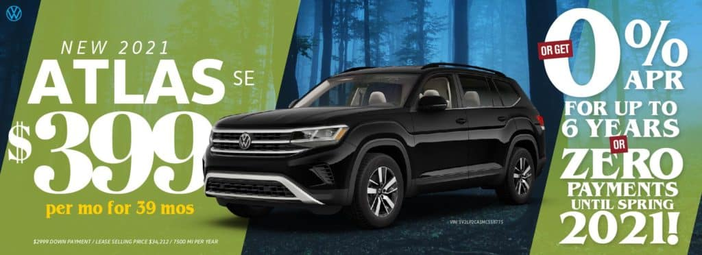 Make no payments until Spring of 2021 at VW SouthTowne!