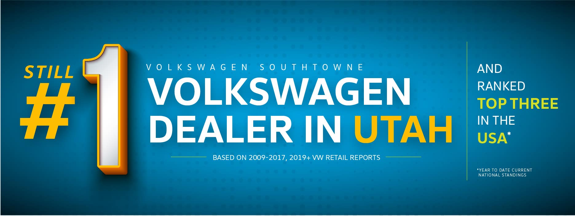 Volkswagen SouthTowne is once again the top VW dealer in Utah