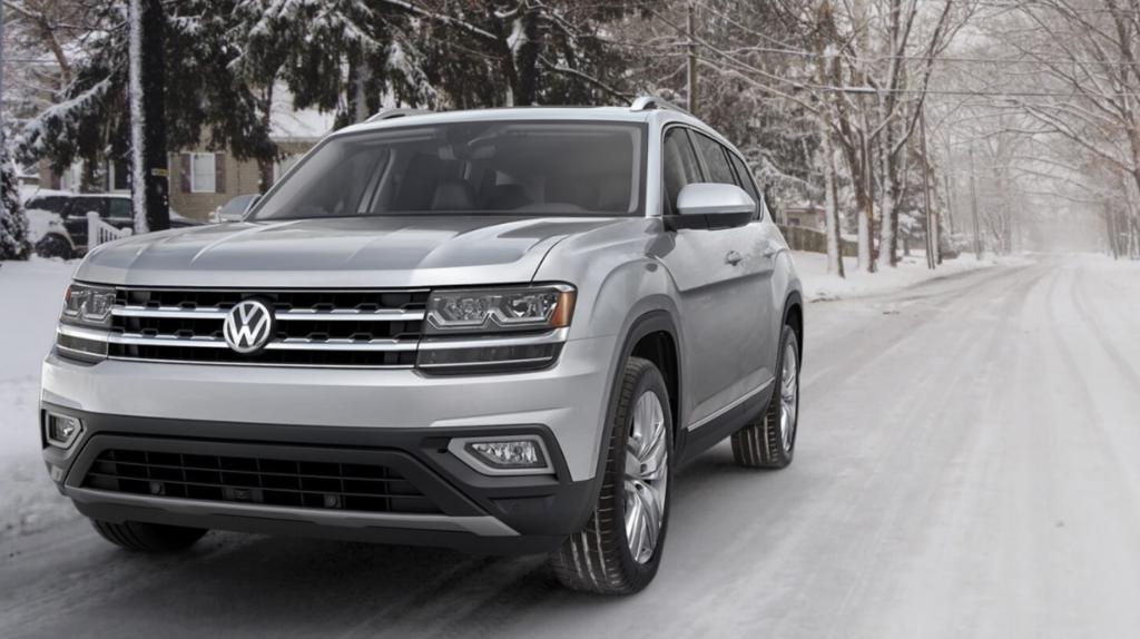 Volkswagen Atlas in Snowy Conditions