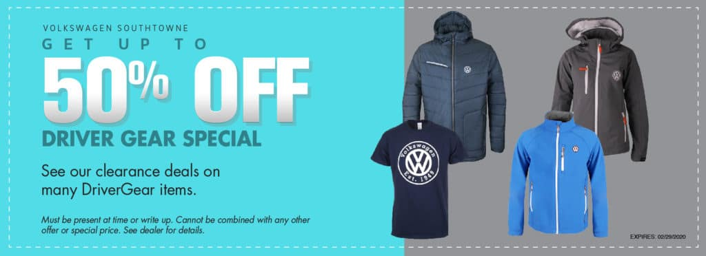 up to 50% off Driver Gear at Volkswagen SouthTowne