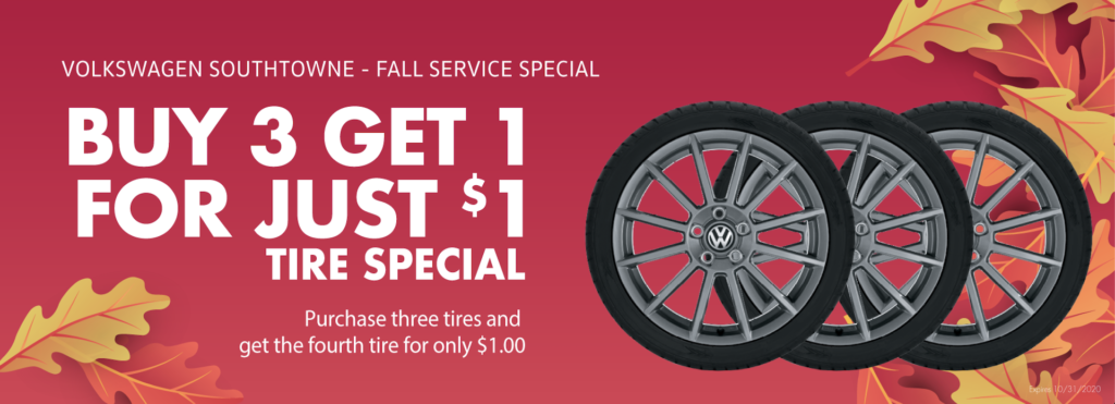 Buy 3 Tires get 1 for $1 with VW SouthTowne