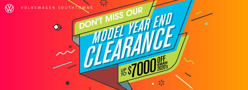 Year End Clearance at VW SouthTowne