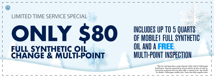 Oil Change only $80 full synthetic!