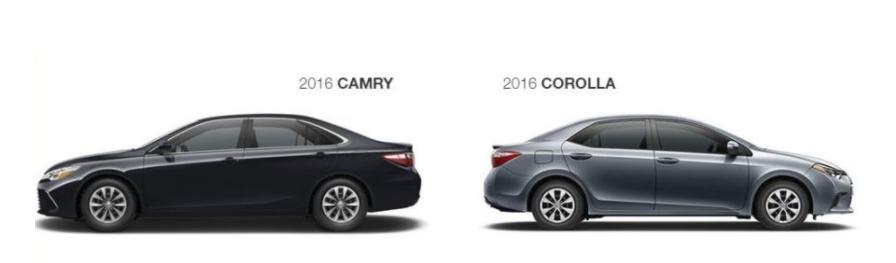 2016 Toyota Camry vs 2016 Toyota Corolla