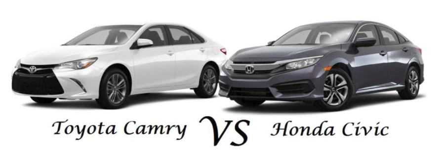 2016 Toyota Camry vs 2016 Honda Civic