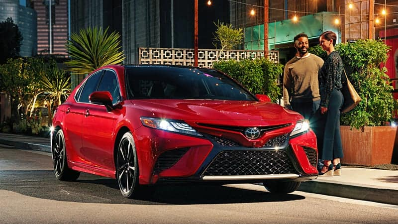 Red 2018 Toyota Camry