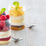 Fruity icebox cakes in individual cups