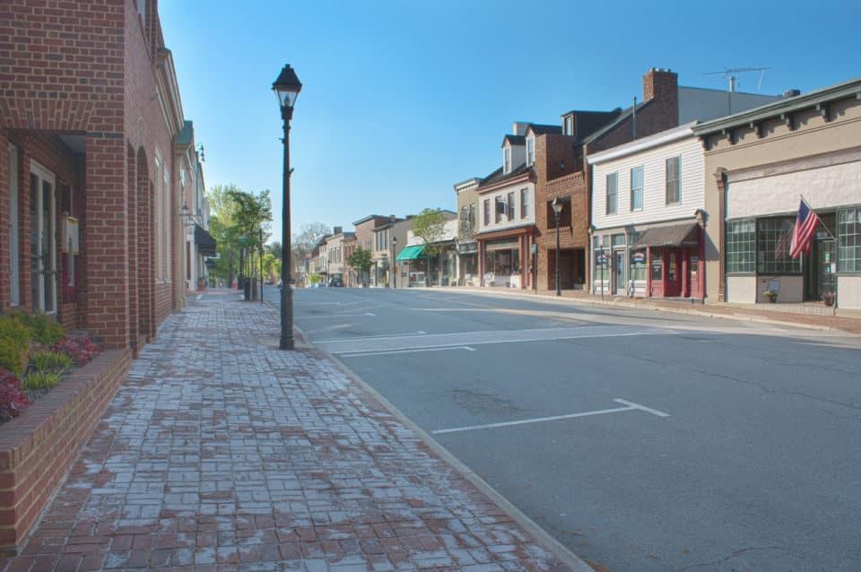 Old Town Warrenton, Warrenton Virginia in Fauquier County.