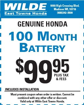 Genuine Honda 100 Month Battery