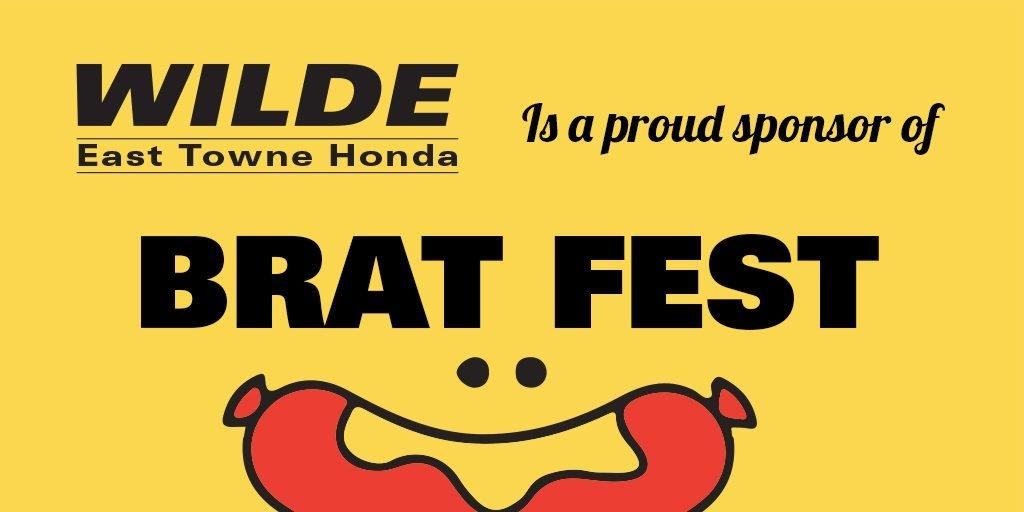 Wilde East Towne Honda is a Proud Sponsor of Brat Fest!