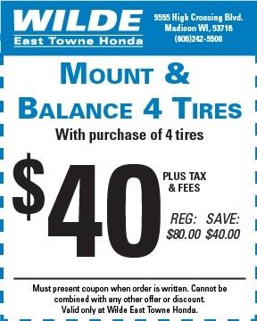 Mount & Balance 4 Tires