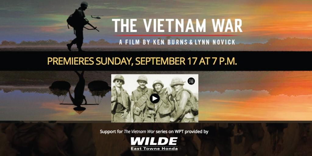 """Wilde Supports WPT's New """"Vietnam War"""" Series"""