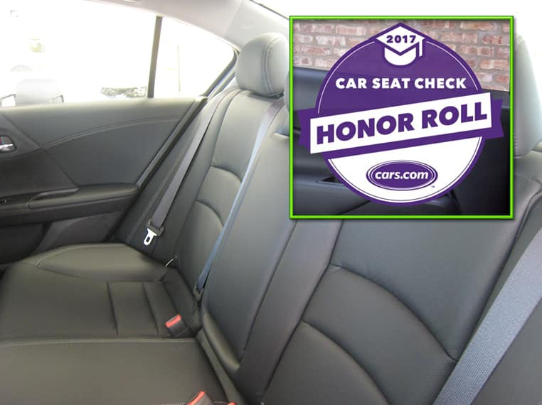 2017 Honda Accord Hybrid Makes Cars.com 'Car Seat Check Honor Roll'