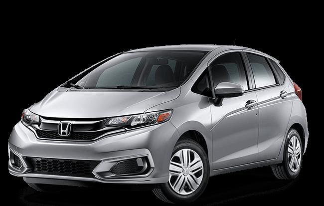 Silver Honda fit