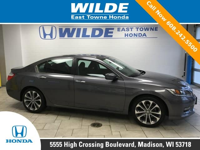 featured used car certified pre owned 2015 honda accord sport wilde east towne honda. Black Bedroom Furniture Sets. Home Design Ideas