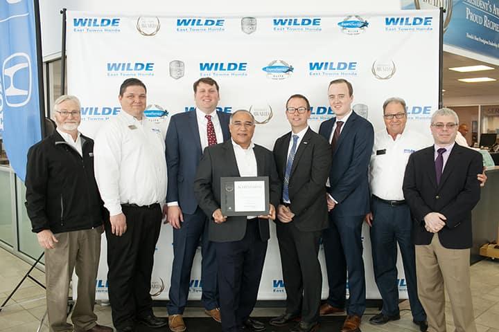 Wilde East Towne Honda Earns Prestigious Honor from Honda