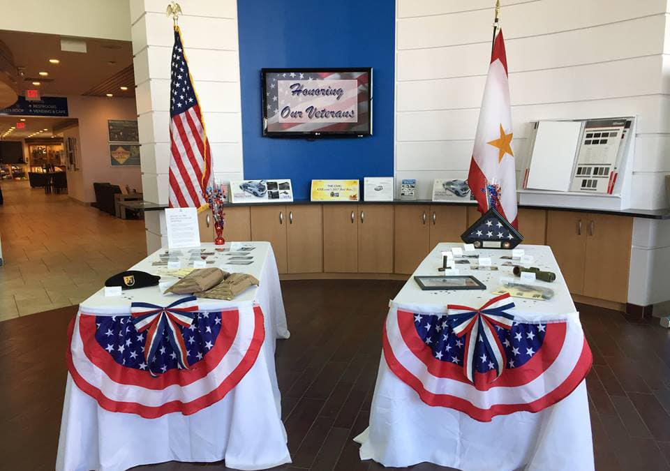 Tables At Veterans Event