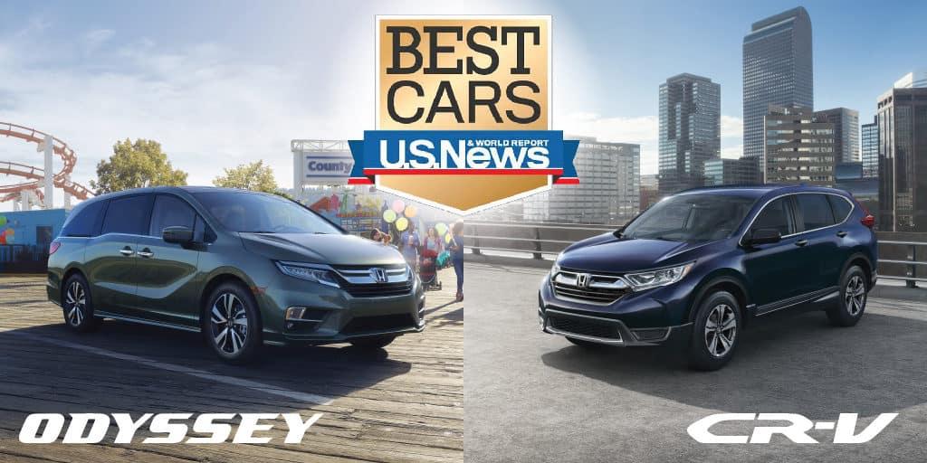 U.S. News & World Report Awards 2018 Honda Odyssey & CR-V \