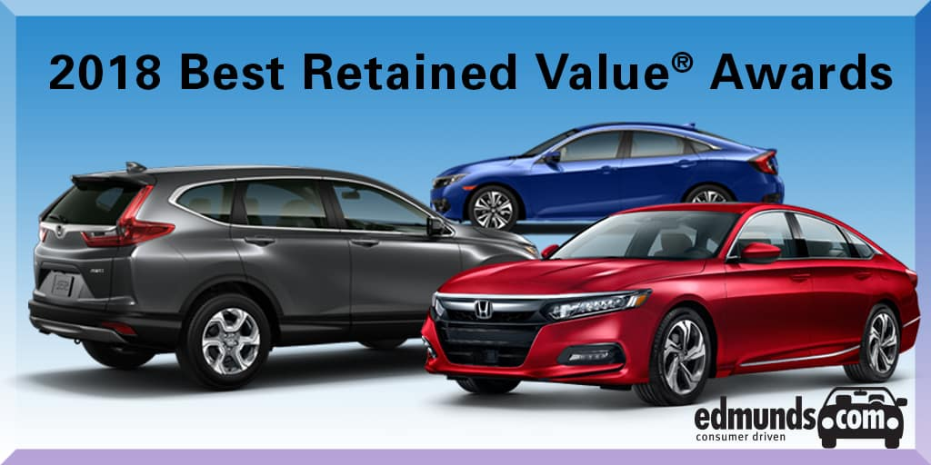 Honda Accord Civic And Cr V Earn 2018 Edmunds Best Retained Value