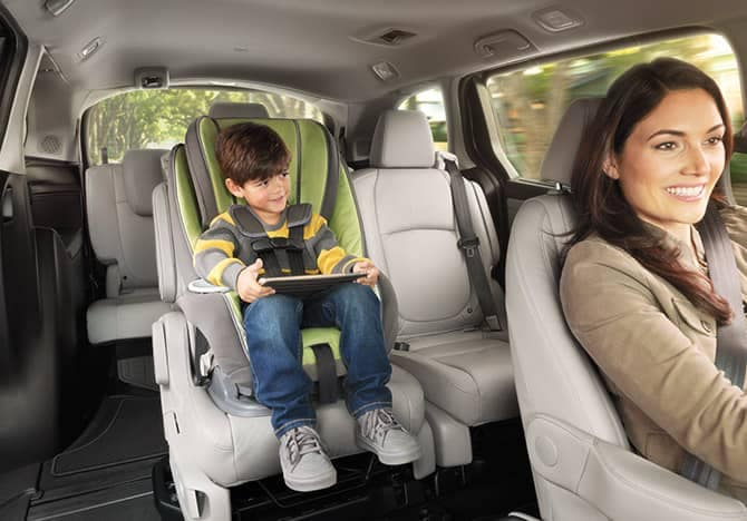 2019 Honda Odyssey With Toddler