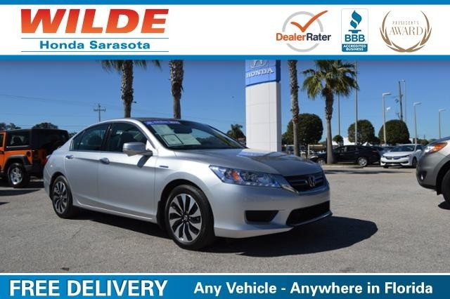 Used car of the week 2015 honda accord hybrid wilde for Wilde honda sarasota fl