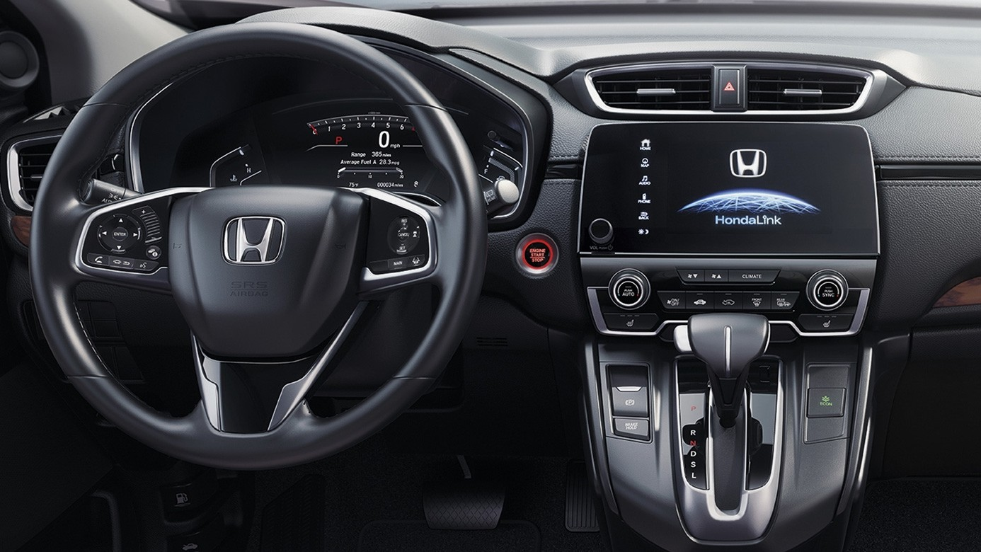 2017 Honda CR-V Dashboard Showing all of the Controls