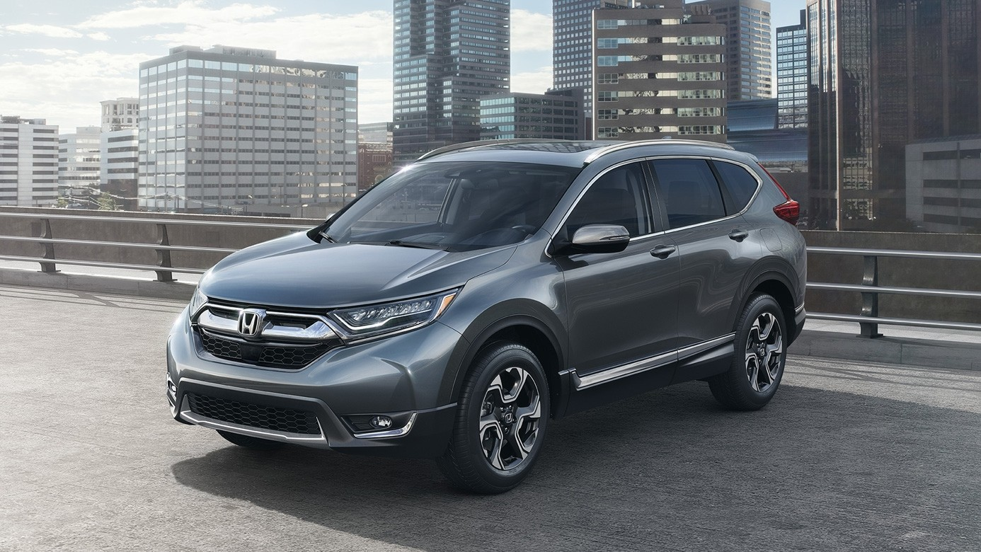 2017 Honda CR-V on Overpass in Front of City