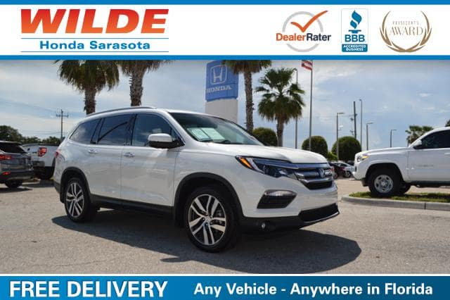 Used car of the week certified pre owned 2017 honda pilot for Wilde honda sarasota fl