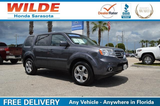Used car of the week certified pre owned 2015 honda pilot for Wilde honda sarasota fl