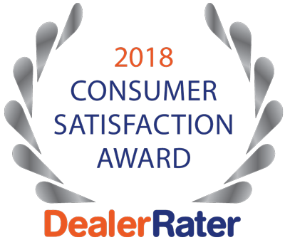 We've Won the Dealerrater Consumer Satisfaction Award