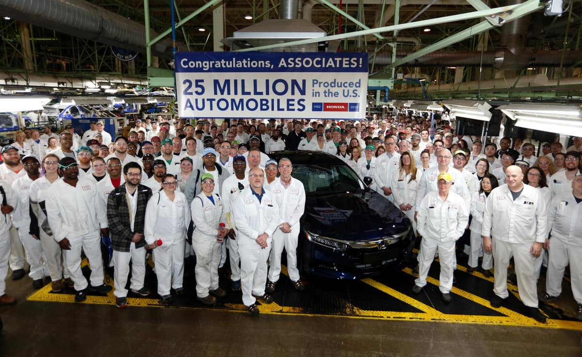 Honda Builds its 25 Millionth US Automobile