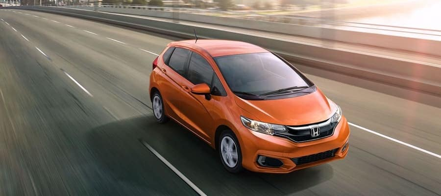 2019 Honda Fit on the highway