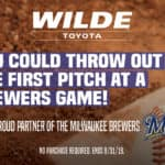 Win 10 Tickets to the Milwaukee Brewers Game