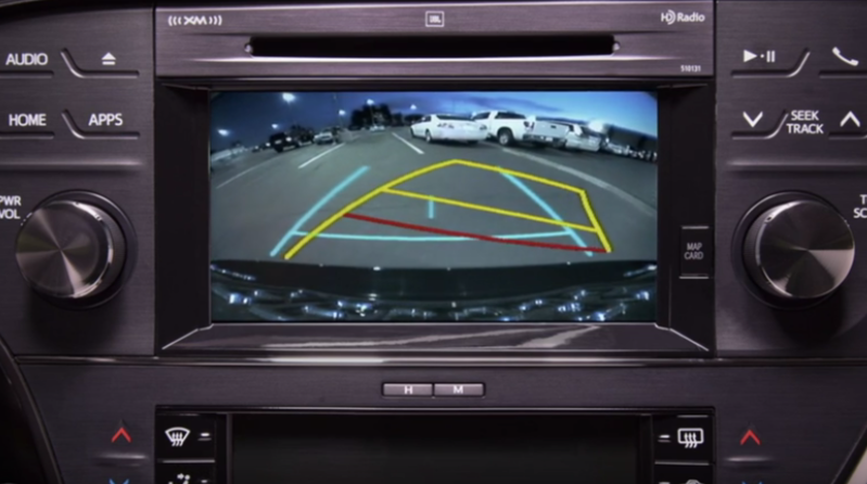 toyota backup camera lines