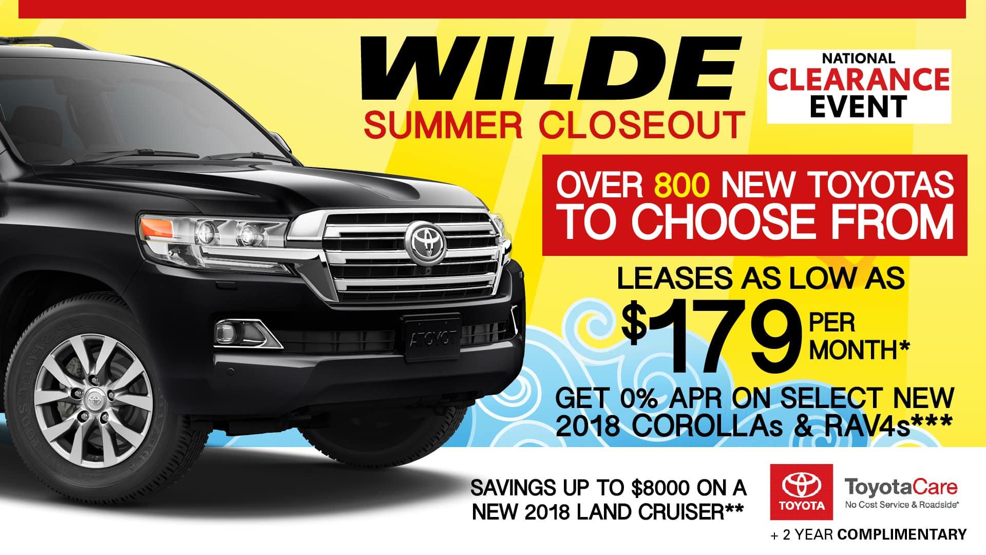New Toyota Specials in West Allis Wilde Toyota