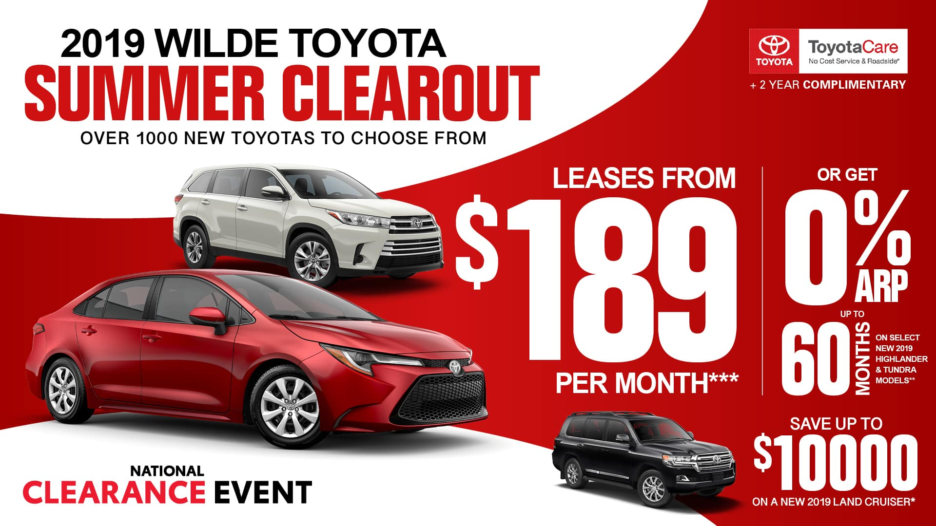 2 Year Car Lease >> New Toyota Specials In West Allis Wilde Toyota New Toyota Offers
