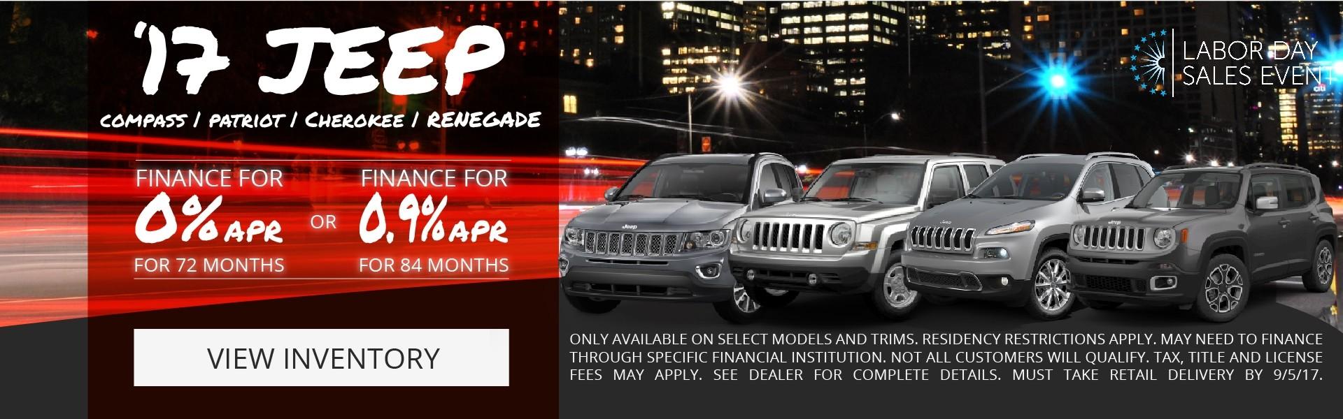 York Augut Jeep Offers
