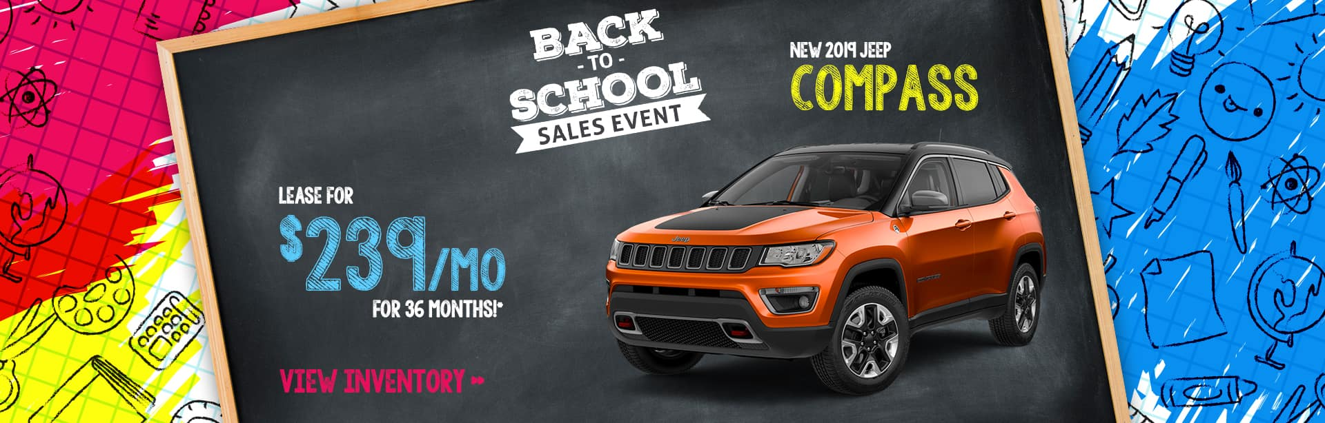 Best Lease deal on a New Jeep Compass near Greencastle, Indiana