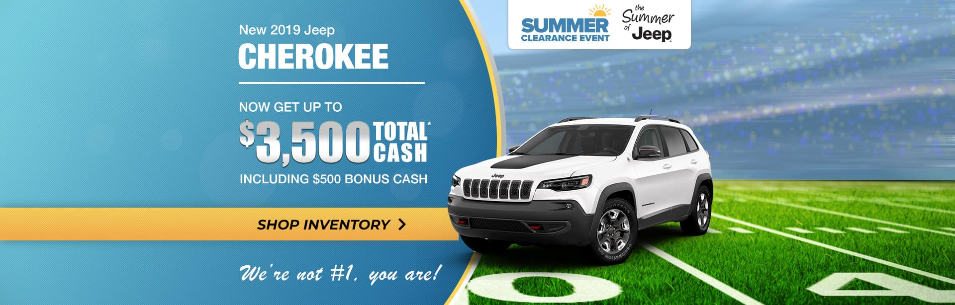 2019 Jeep Cherokee Summer Special in Crawfordsville, Indiana.