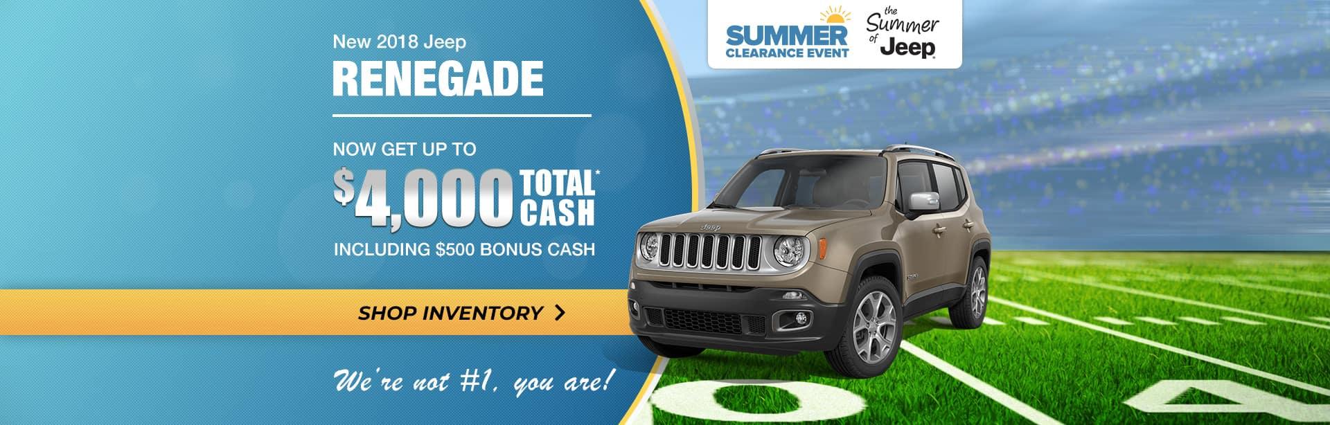 2018 Jeep Renegade Best Deal near Lafayette, Indiana
