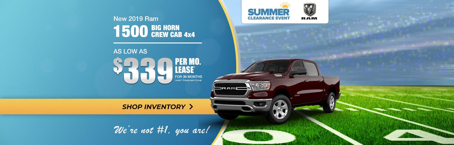 2019 RAM 1500 Big Horn Lease Special for Terre Haute, Indiana