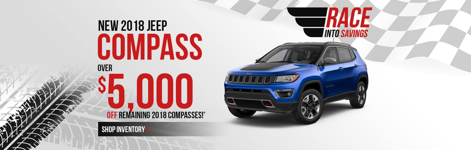 Save Over $5,000 on a 2018 Jeep Compass near Lafayette, Indiana.