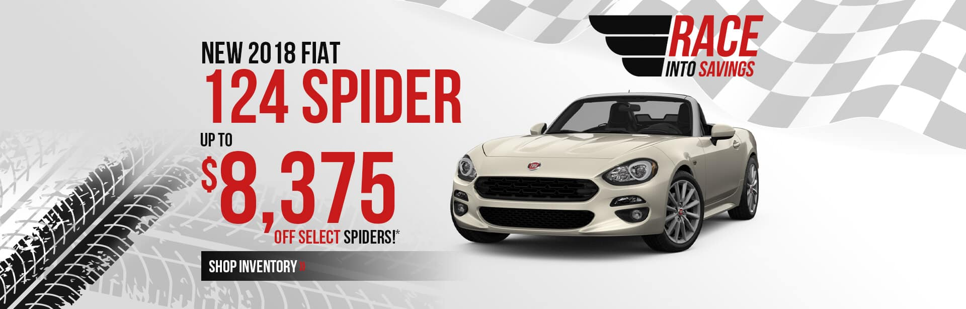 124 Spider Inventory in Indianapolis, Indiana.