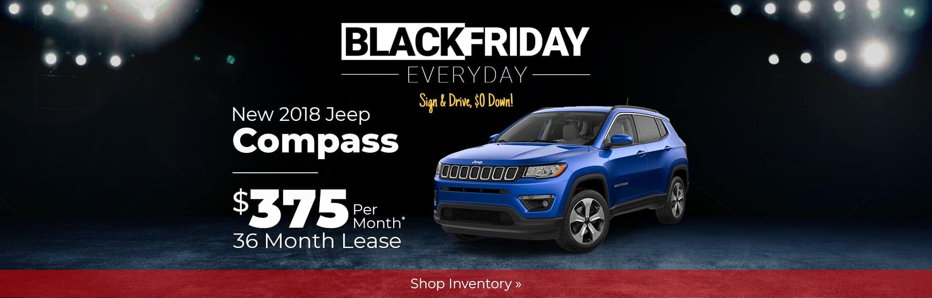 2018 Jeep Compass Black Friday Lease Special Near Crawfordsville, Indiana