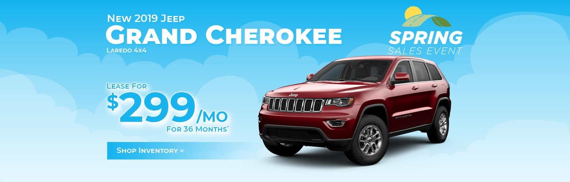 Jeep Grand Cherokee Lease Deal near Lafayette, Indiana.
