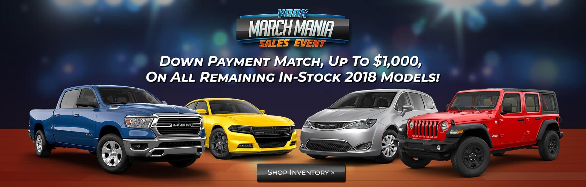 We'll match your down payment on a new vehicle!