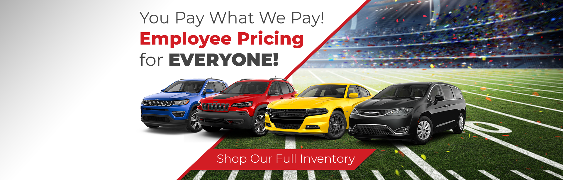 September 2018 FCA Employee Pricing near Indianapolis.