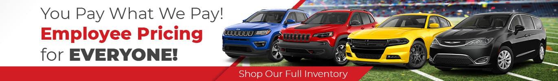 Chrysler Dodge Jeep RAM Employee Pricing Indianapolis