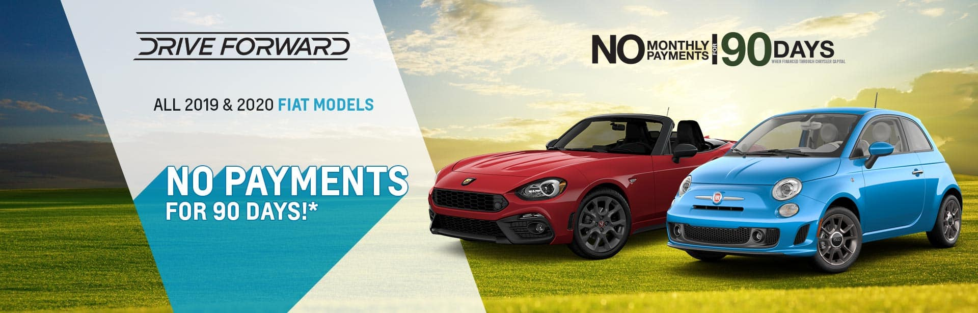 No payments for 90 days on a New FIAT near Indianapolis, Indiana